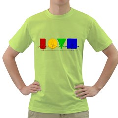 Love Mens  T Shirt (green)