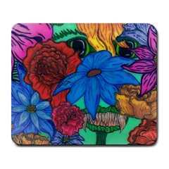 Creepy Beauty Large Mouse Pad (Rectangle)