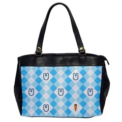 Plaid Bunny Oversize Office Handbag (one Side)