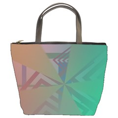 Abstract Bucket Bag