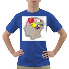 men s brain, uncovered Mens' T-shirt (Colored)
