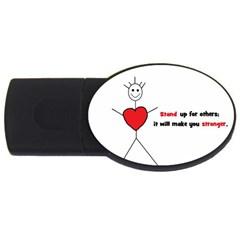 Antibully Lk 1GB USB Flash Drive (Oval)
