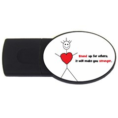 Antibully Lk 4GB USB Flash Drive (Oval)