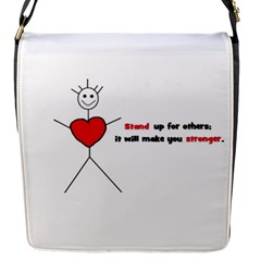 Antibully Lk Flap closure messenger bag (Small)