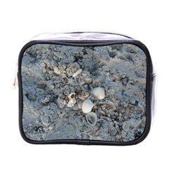 Sea Shells On The Shore Mini Travel Toiletry Bag (one Side)