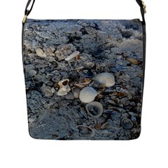Sea Shells on the Shore Flap Closure Messenger Bag (Large)