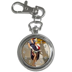 Retro Pin-up Girl Key Chain & Watch