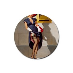 Retro Pin-up Girl Drink Coasters 4 Pack (Round)