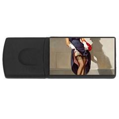 Retro Pin-up Girl 1GB USB Flash Drive (Rectangle)