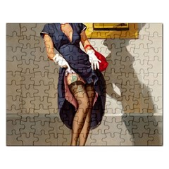 Retro Pin-up Girl Jigsaw Puzzle (Rectangle)