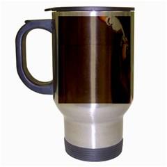 Retro Pin Up Girl Travel Mug (silver Gray)