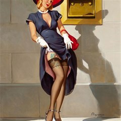 Retro Pin-up Girl Canvas 16  x 16  (Unframed)