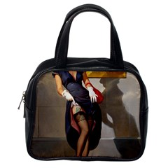Retro Pin Up Girl Classic Handbag (one Side)