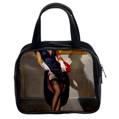 Retro Pin-up Girl Classic Handbag (Two Sides)