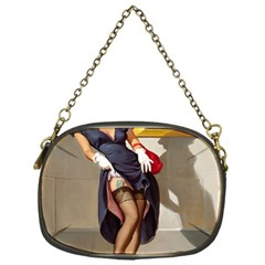 Retro Pin-up Girl Chain Purse (One Side)