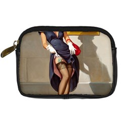 Retro Pin Up Girl Digital Camera Leather Case
