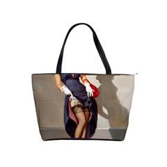 Retro Pin-up Girl Large Shoulder Bag
