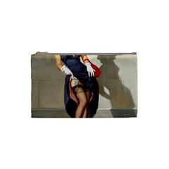 Retro Pin-up Girl Cosmetic Bag (Small)