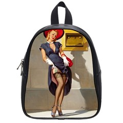 Retro Pin-up Girl School Bag (Small)