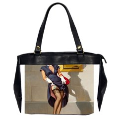 Retro Pin-up Girl Oversize Office Handbag (Two Sides)