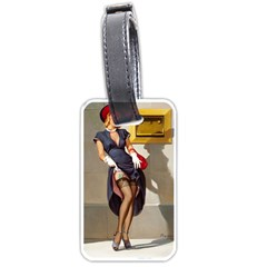 Retro Pin Up Girl Luggage Tag (one Side)
