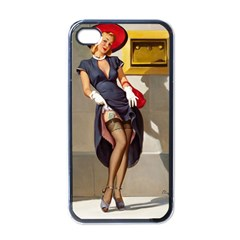 Retro Pin-up Girl Apple iPhone 4 Case (Black)