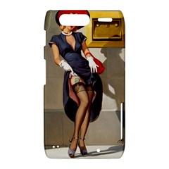 Retro Pin-up Girl Motorola Droid Razr XT912 Hardshell Case
