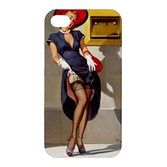 Retro Pin-up Girl Apple iPhone 4/4S Premium Hardshell Case
