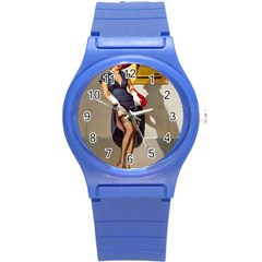 Retro Pin-up Girl Plastic Sport Watch (Small)