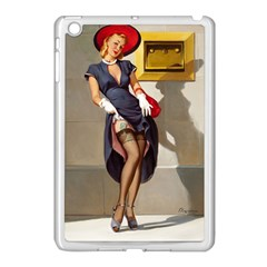Retro Pin Up Girl Apple Ipad Mini Case (white)