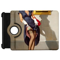 Retro Pin Up Girl Kindle Fire Hd 7  Flip 360 Case