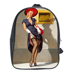 Retro Pin Up Girl School Bag (xl)