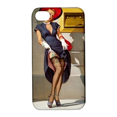 Retro Pin-up Girl Apple iPhone 4/4S Hardshell Case with Stand