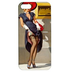 Retro Pin-up Girl Apple iPhone 5 Hardshell Case with Stand