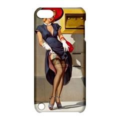 Retro Pin-up Girl Apple iPod Touch 5 Hardshell Case with Stand