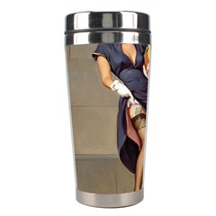 Retro Pin-up Girl Stainless Steel Travel Tumbler