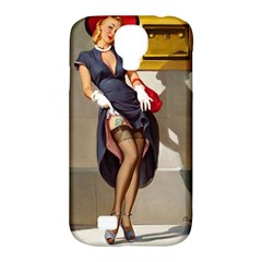 Retro Pin Up Girl Samsung Galaxy S4 Classic Hardshell Case (pc+silicone)