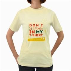 Summer T Shirt  Womens  T Shirt (yellow)