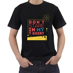 Summer T Shirt Mens' Two Sided T Shirt (black)