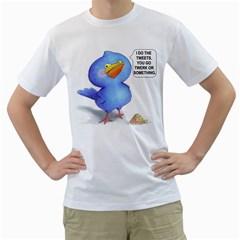 tweet-a-bird Mens  T-shirt (White)