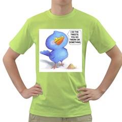tweet-a-bird Mens  T-shirt (Green)