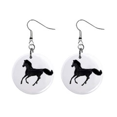 Running Horse Mini Button Earrings