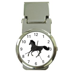 Running Horse Money Clip with Watch