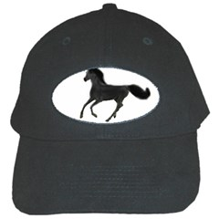 Running Horse Black Baseball Cap