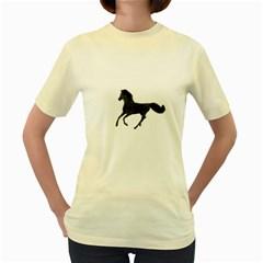 Running Horse  Womens  T-shirt (Yellow)