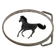 Running Horse Belt Buckle (Oval)