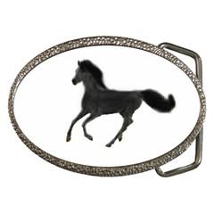 Running Horse Belt Buckle (Oval)