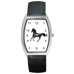 Running Horse Tonneau Leather Watch