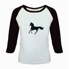 Running Horse Women s Long Cap Sleeve T-Shirt