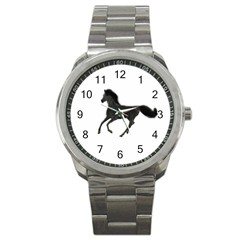 Running Horse Sport Metal Watch